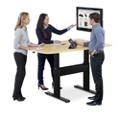 "Eleve Adjustable Height Media Table - 42""W x 60""D, 46096"