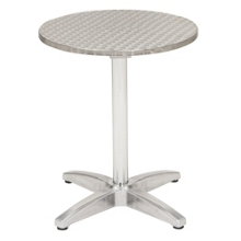 "32"" Round Stainless Steel Outdoor Table, 41453"