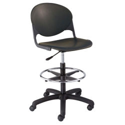 Plastic Drafting Stool with Foot Ring, 50731
