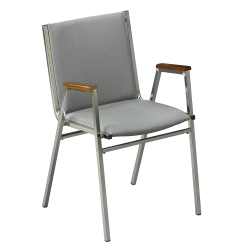 """Stack Chair with Arms 1"""" Fabric Seat, 51223"""