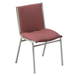 """Armless Stack Chair 2"""" Fabric Seat, 51229"""