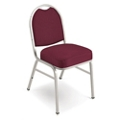 "Chrome Frame Designer Fabric Stack Chair with 2"" Seat, 51301"