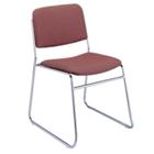 Chrome Sled Base Stack Chair, CD04207