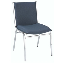 "Armless 2"" Designer Fabric Chrome Stack Chair, 51307"