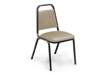 Vinyl Square-Back Stack Chair with Padded Seat, 51233