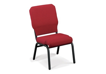 Fabric Armless Wing Stack Chair with Bolster Seat, 51314