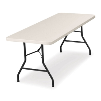 "Lightweight Rectangular Folding Table - 60"" x 30"", 41283"