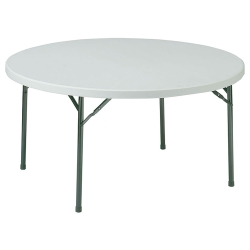 "Lightweight Round Folding Table - 71"" Diameter, 41359"