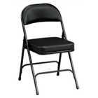 "Oasis Vinyl Folding Chair with 2-1/4"" Thick Seat, CD06038"