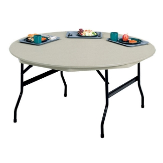"Lightweight Round Folding Table - 60"" Diameter, 41139"