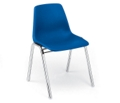 Armless Plastic Stack Chair with Chrome Frame, 51219