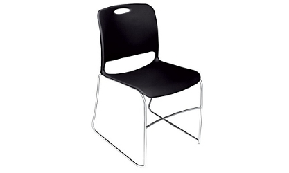 Stack Chair with Molded Poly Shell, 51615