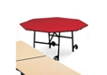 "Octagonal Black Frame Mobile Folding Table- 60""Dia, 41380"