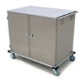 32 Tray Room Service Delivery Cart with Two Doors, 25306