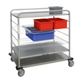 "44""H Stainless Steel Multi-Use Wire Open Case Cart, 25309"