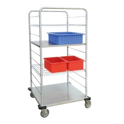 "62""H Stainless Steel Multi-Use Wire Open Case Cart, 25313"