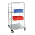 """62""""H Stainless Steel Multi-Use Wire Open Case Cart, 25313"""