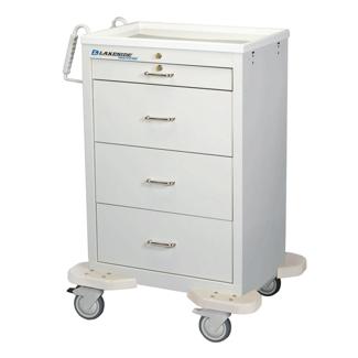 4 Drawer Medication Cart with Key Lock, 25572