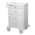 4 Drawer Medication Cart with Key Lock, 25572