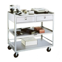 Lakeside Mobile Equipment Stand with Two Drawers, 31804