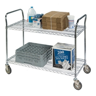 "Lakeside 48""x18"" Utility Cart with Wire Shelves, 31806"