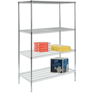 "Lakeside 48""Wx24""Dx72""H Wire Shelving Unit, 31817"