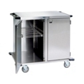"""Lakeside 43""""x39"""" Stainless Steel Two Section Closed Case Cart, 31823"""