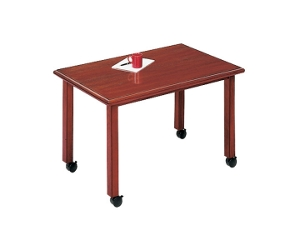 "Rectangular Conference Table with Casters - 60"" x 36"", 40518"