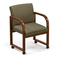 Sled Base Full Back Guest Chair with Casters, 52369