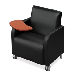 Vinyl Club Chair with Tablet Arm, 75432