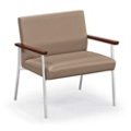 Uptown Bariatric Guest Chair with Vinyl or Fabric/Vinyl Upholstery, 76014