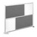 """76""""W x 53""""H Low Panel Wall Partition, 20104"""