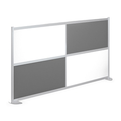 "100""W x 53""H Low Panel Wall Partition, 20105"