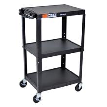 Adjustable Height Steel AV Cart, 43203