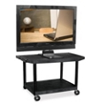 "Two Shelf Flat Panel TV Cart with Reinforced Shelf - 27"" H, 43206"
