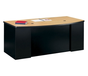 Bowfront Desk with 2 Pedestals, 11263