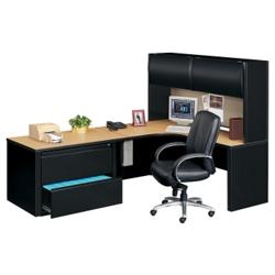 Left Corner Workstation with Hutch, 11269