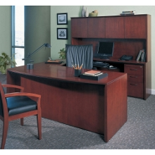 U Shaped Desk with Left or Right Bridge, 15295