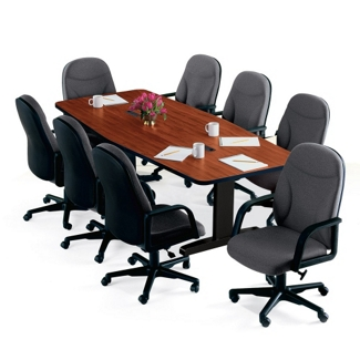 "Boat Shape Conference Table - 96"" x 48"", 40575"