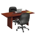 "Boat Shape Conference Table - 7' x 3'6"", 40606"