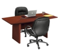 "Boat Shape Conference Table - 8' x 3'6"", 40607"