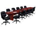 18' Conference Table with 11 Leather Chairs, 40706