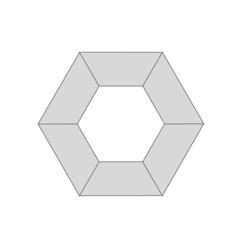 FLEX Hexagon Shaped Training Room Set, 41518