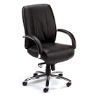 Mid Back Leather Chair, 52283