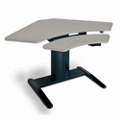 "Powered Adjustable Height 48"" Corner Workstation, 60933"