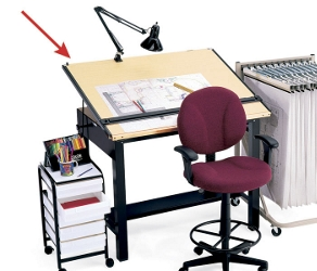 "60""W x 38""D Drafting Table, 70144"