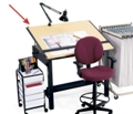 "72""W x 38""D Drafting Table, 70145"