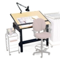"48""W x 38""D Drafting Table, 70143"