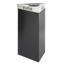 "34""H Trash Receptacle with Multiple Lid Options, 91408"