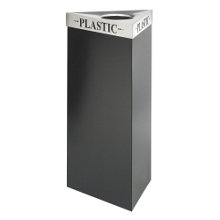 "38""H Trash Receptacle with Multiple Lid Options, 91409"
